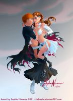 Helpless - Ichigo and Orihime by ChibiSofa