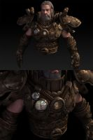 steampunk ODIN-upper body WIP by 3dsquid