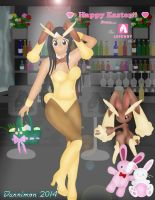 Happy Easter from the Lopunny Club by DannimonDesigns