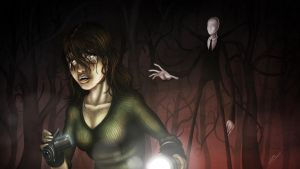 You can't run from Slender Man by JazzaStudios