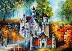 Castle by Leonid Afremov by Leonidafremov