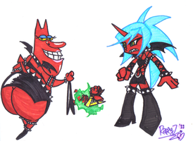Scant.. Red Guy and Kneesocks by RyomaGod