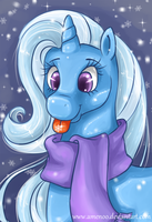 Catching Snowflakes by Amenoo