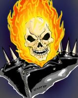 Ghost Rider in color by TheElysian