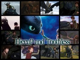 Hiccup and Toothless by WinterMoon95