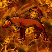 Fire Wolf, Fuoco by DireDragoness