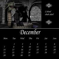 Drow Calendar 09 - Dec by Umrae-Thara