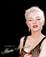 Marilyn Monroe ~~ca 1949 ~~ colourised by Maria-Musikka
