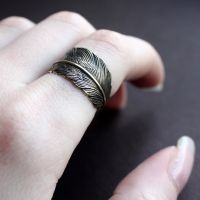 Feather wrap in Goldplate by Brillville