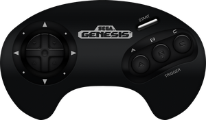 Sega Genesis 3-Button Controller by BLUEamnesiac