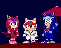 Samurai Pizza Cats by goaferboy