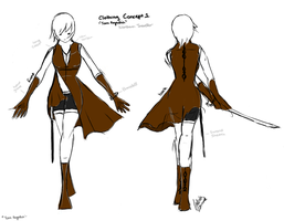 OC Clothing Concept 1 - Torn Regalia by Lukwarm