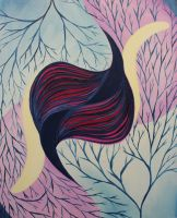 FINT103 Oil Painting 7: Nature Inspired Abstract by BrielleCoppola