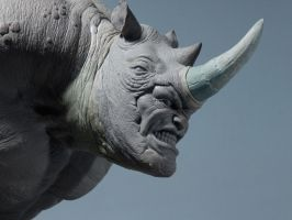 Rhino Sculpture 5 by loqura