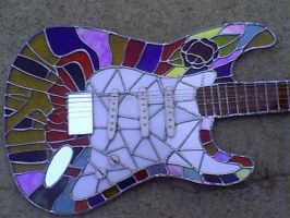 Stained Glass Guitar by SaaraBlitz
