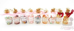 Sweet treats candy jar necklaces by ilikeshiniesfakery