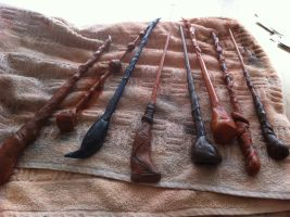 my self made Harry Potter Wands by Banashee