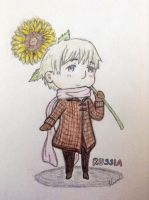 Russia and his Sunflower by FruitloopB4Uleap