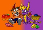 Crash And Spyro by TheQueenOfManga