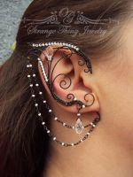 Elven ear cuffs Dark Elf by GladOlga