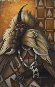 Gelada King of Spades by kyoht