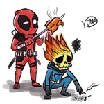 Ghost rider and deadpool by KonoLau