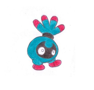 Tangela pre-evolution - Tanshrin by CrystalCreatures