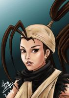 Ibuki, Street Fighter Fan Art (color and lines) by slackz