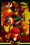 TOON AVENGERS by dhavid-arts