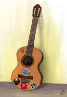 My Guitar - Colored by alvinbilian