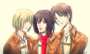 Shingeki no Love Triangle by sakurasamichan