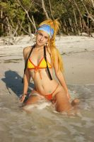Rikku in Besaid by Official-AmyFantasy