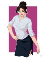 Darcy Lewis Pin Up Commission by Mro16