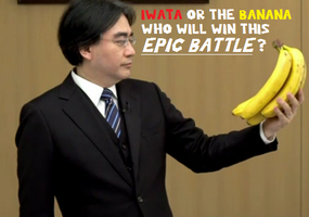 Iwata Vs The Banana by MeisterY