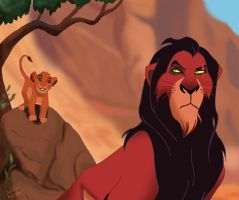 Scar and Simba by radicalein