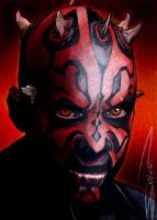 Darth Maul Sketch Card 4 by RandySiplon