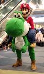 Yoshi and Mario by marmots