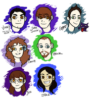 Caricatures 2 by Aeonathenne