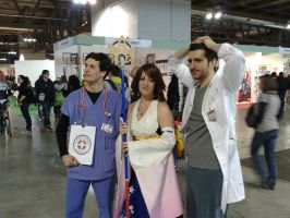 Yuna and Scrubs! by Piccolapiplup