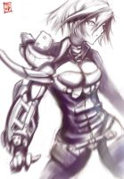 Cyborg woman from hell by flinden