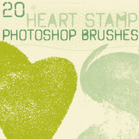 heart stamp brushes by chokingonstatic