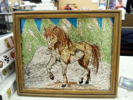 Horse stained glass by manga-inu-chan