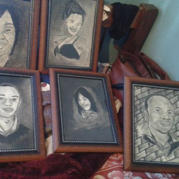 charcoal portraits by Fiona-theartist