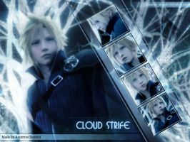 Cloud strife FF VII by areemus