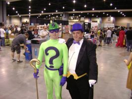 Riddler and Penguin cosplay by Robot001