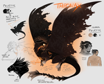 Theonax - messiest character sheet ever by noebelle