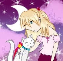 .:: Kitty and Tsukey-chan ::. by laeriana