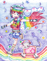 BabyDoll and Nyancat contest by perluchis