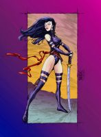 Psylocke Commission (Color) by rhixart