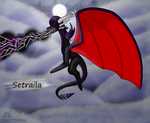 New Dragon Oc- Setraila by CyndelatheDragon